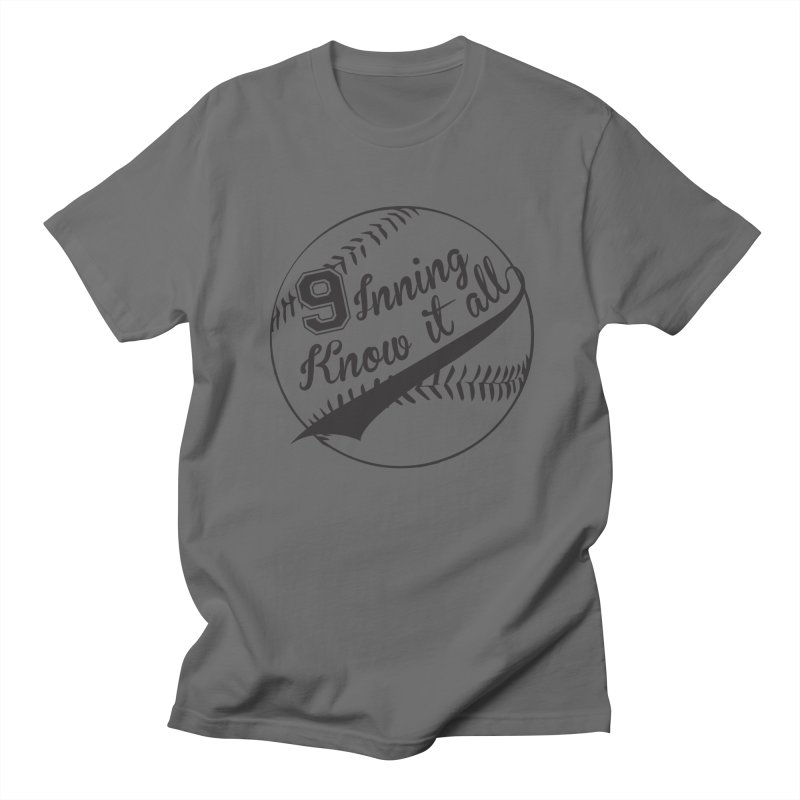 9 Inning Alternative (Clear Ball) Men's T-Shirt by 9 Inning Know It All Apparel and Merchandise