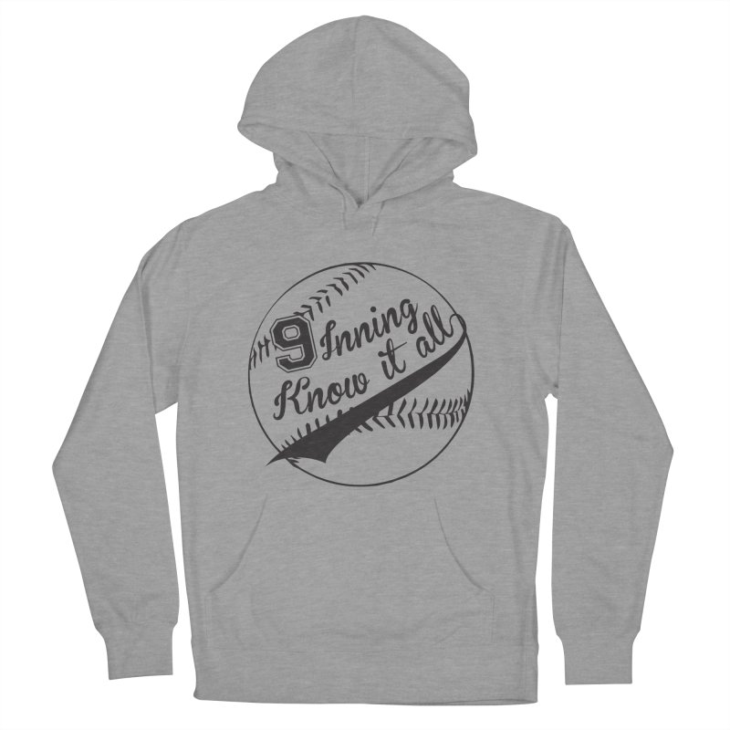 9 Inning Alternative (Clear Ball) Men's French Terry Pullover Hoody by 9 Inning Know It All Apparel and Merchandise