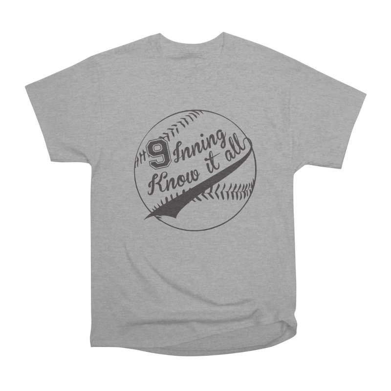 9 Inning Alternative (Clear Ball) Men's Heavyweight T-Shirt by 9 Inning Know It All Apparel and Merchandise