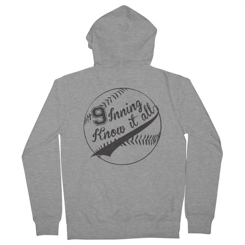9 Inning Alternative (Clear Ball) Women's French Terry Zip-Up Hoody by 9 Inning Know It All Apparel and Merchandise