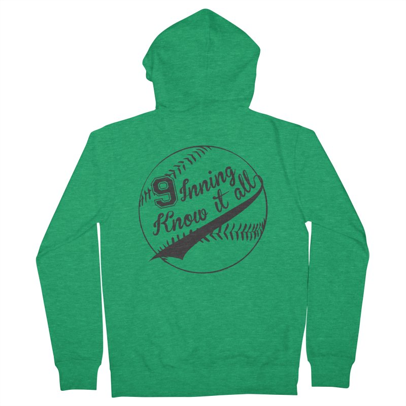 9 Inning Alternative (Clear Ball) Men's French Terry Zip-Up Hoody by 9 Inning Know It All Apparel and Merchandise
