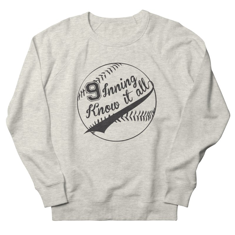9 Inning Alternative (Clear Ball) Men's French Terry Sweatshirt by 9 Inning Know It All Apparel and Merchandise