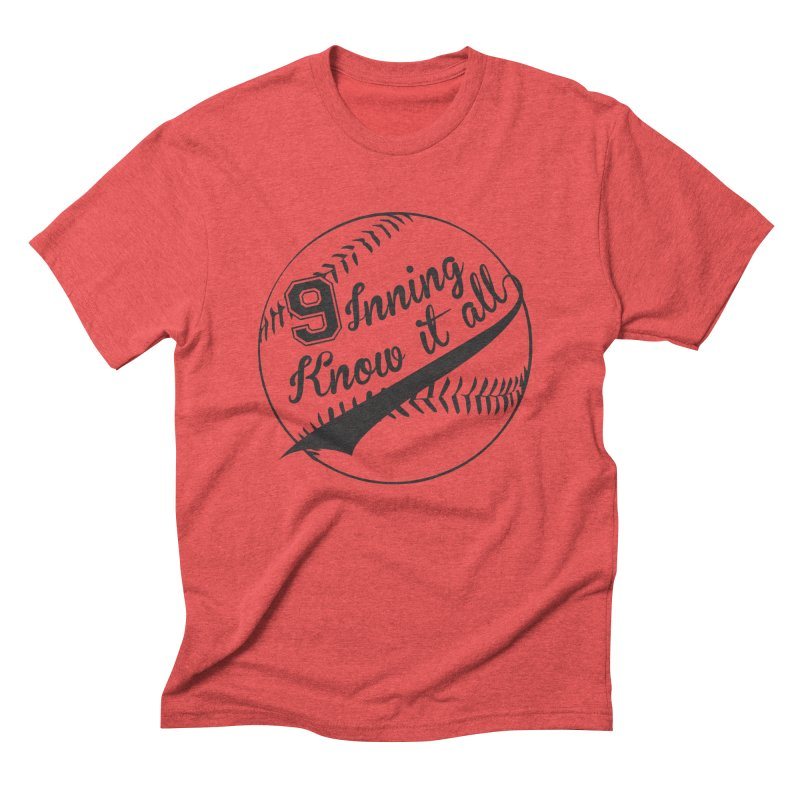 9 Inning Alternative (Clear Ball) Men's Triblend T-Shirt by 9 Inning Know It All Apparel and Merchandise