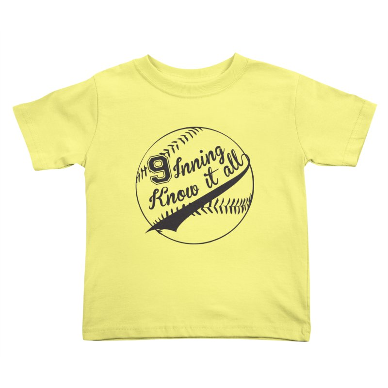9 Inning Alternative (Clear Ball) Kids Toddler T-Shirt by 9 Inning Know It All Apparel and Merchandise