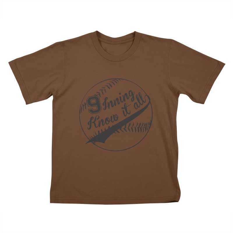 9 Inning Alternative (Clear Ball) Kids T-Shirt by 9 Inning Know It All Apparel and Merchandise