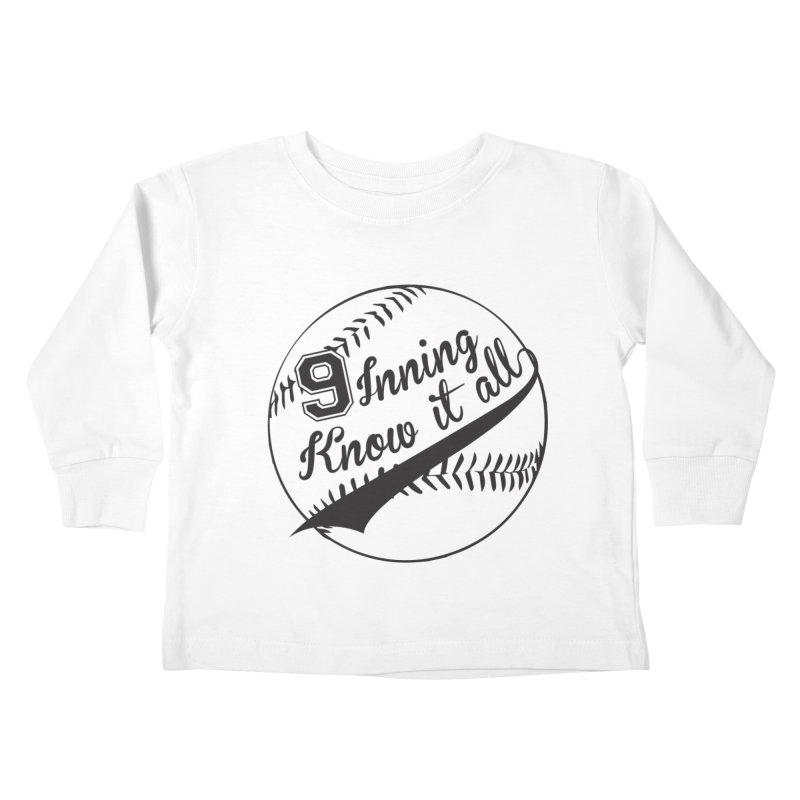 9 Inning Alternative (Clear Ball) Kids Toddler Longsleeve T-Shirt by 9 Inning Know It All Apparel and Merchandise