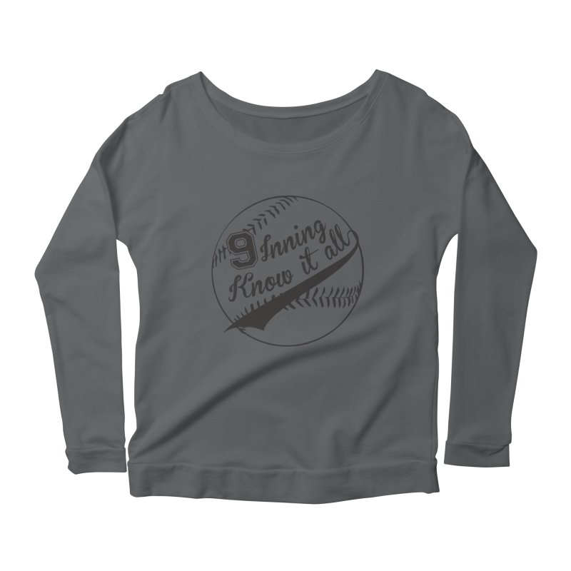 9 Inning Alternative (Clear Ball) Women's Scoop Neck Longsleeve T-Shirt by 9 Inning Know It All Apparel and Merchandise