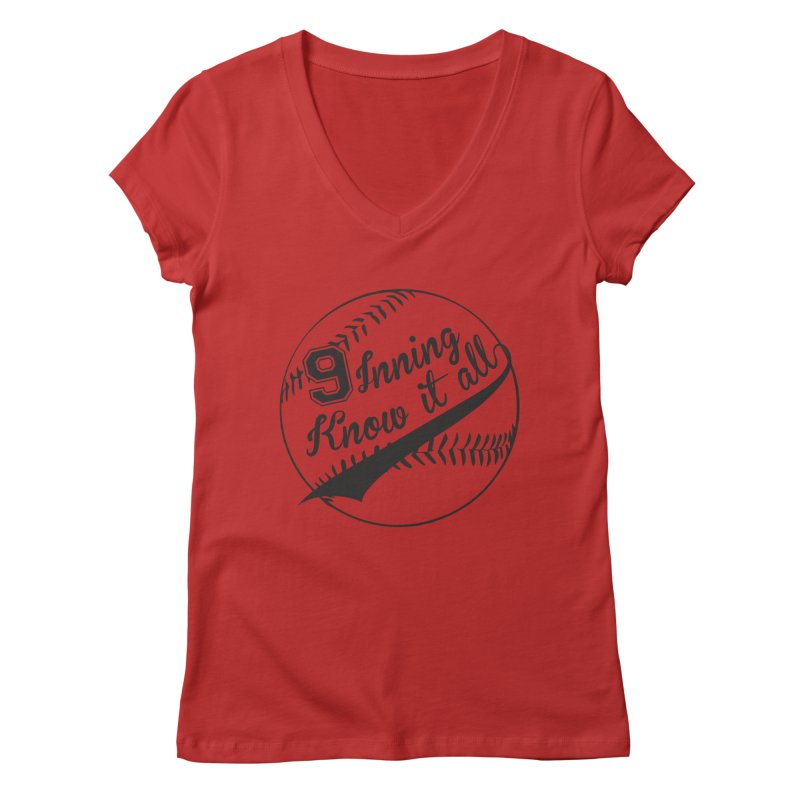 9 Inning Alternative (Clear Ball) Women's Regular V-Neck by 9 Inning Know It All Apparel and Merchandise
