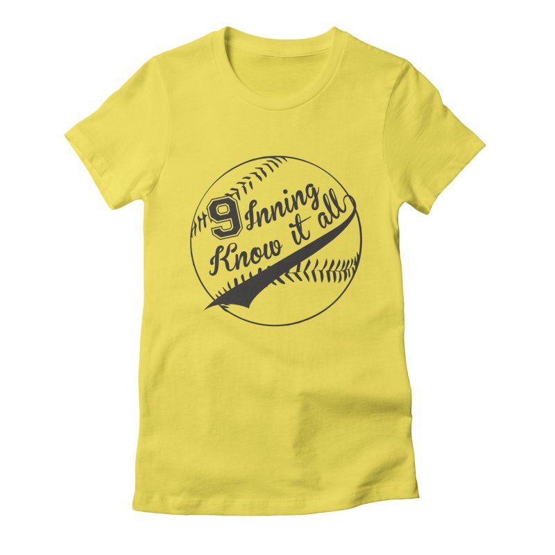 9 Inning Alternative (Clear Ball) Women's Fitted T-Shirt by 9 Inning Know It All Apparel and Merchandise