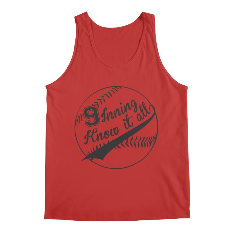 9 Inning Alternative (Clear Ball) Men's Regular Tank by 9 Inning Know It All Apparel and Merchandise