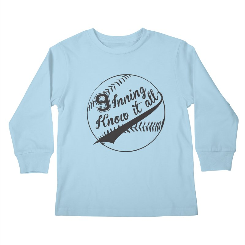 9 Inning Alternative (Clear Ball) Kids Longsleeve T-Shirt by 9 Inning Know It All Apparel and Merchandise