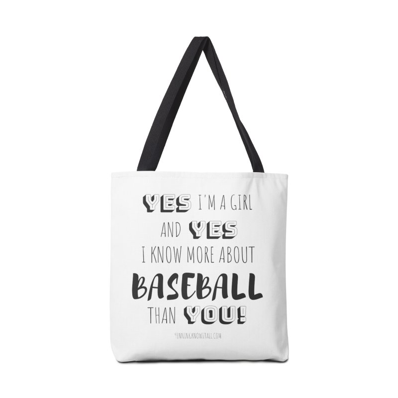 Girls Know Baseball Accessories Bag by 9 Inning Know It All Apparel and Merchandise