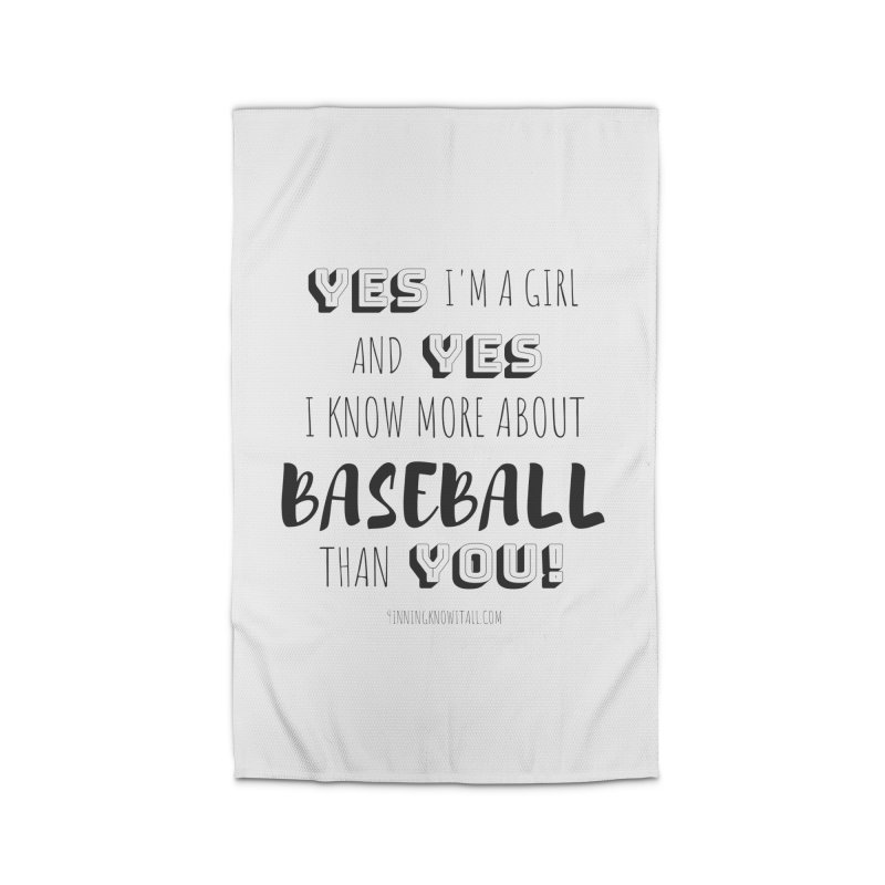 Girls Know Baseball Home Rug by 9 Inning Know It All Apparel and Merchandise