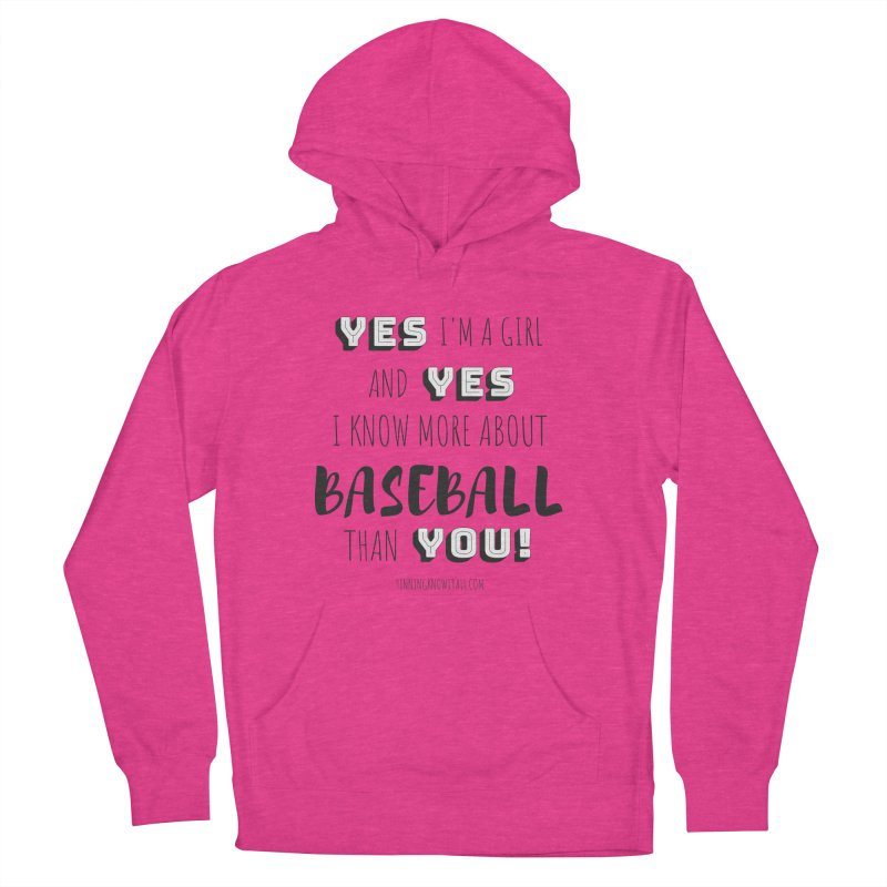 Girls Know Baseball Women's French Terry Pullover Hoody by 9 Inning Know It All Apparel and Merchandise