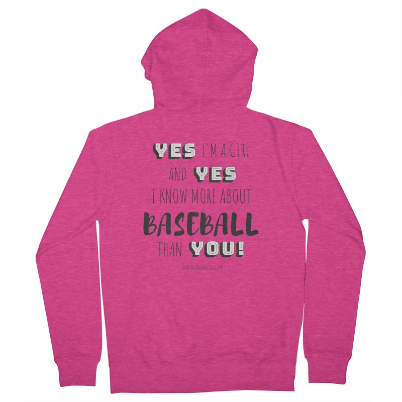 Girls Know Baseball Women's French Terry Zip-Up Hoody by 9 Inning Know It All Apparel and Merchandise