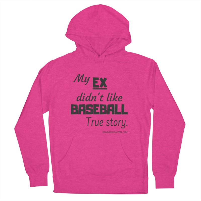 My EX Men's French Terry Pullover Hoody by 9 Inning Know It All Apparel and Merchandise