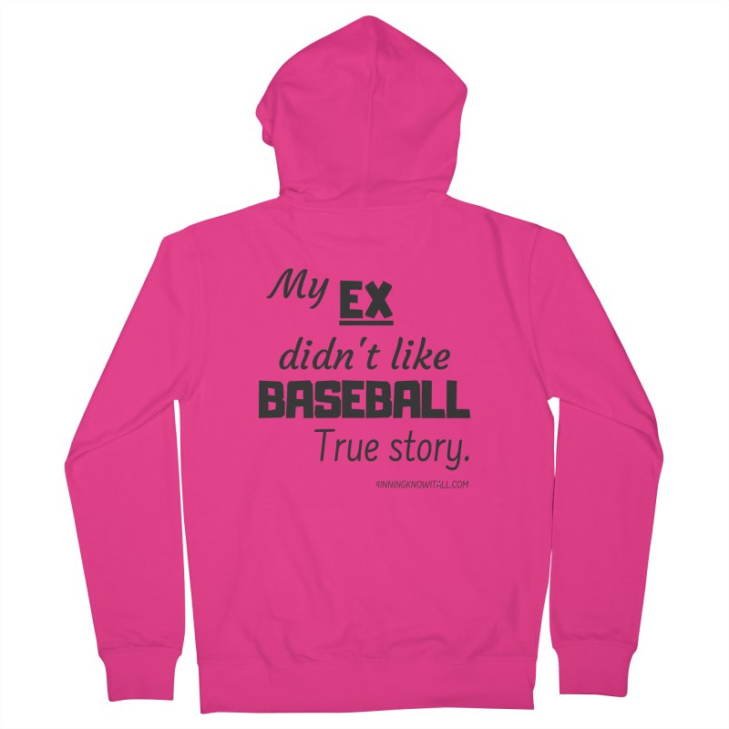 My EX Men's French Terry Zip-Up Hoody by 9 Inning Know It All Apparel and Merchandise