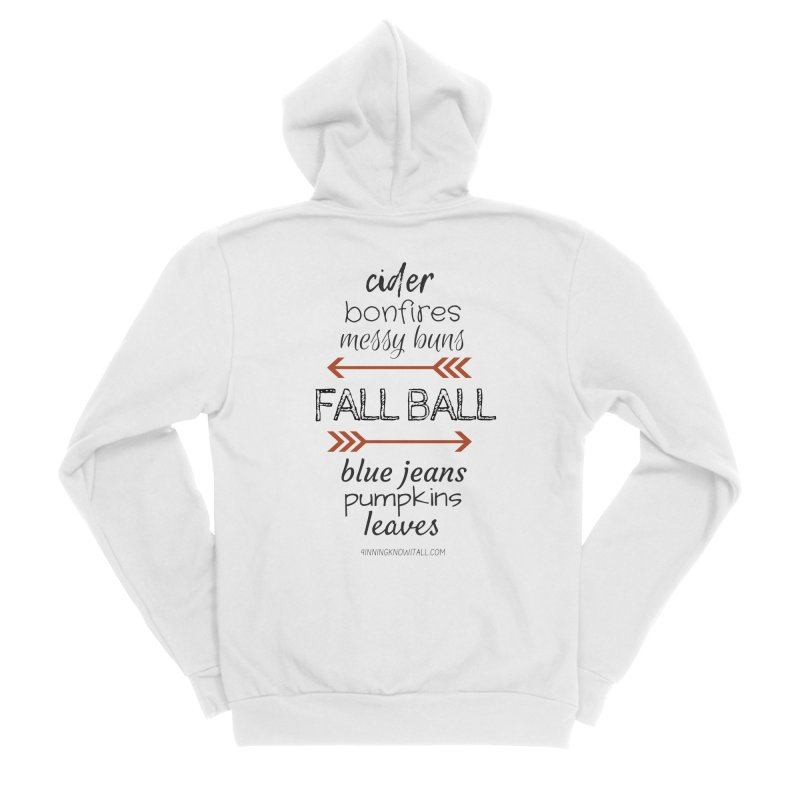 Fall Ball (Ladies) Women's Sponge Fleece Zip-Up Hoody by 9 Inning Know It All Apparel and Merchandise