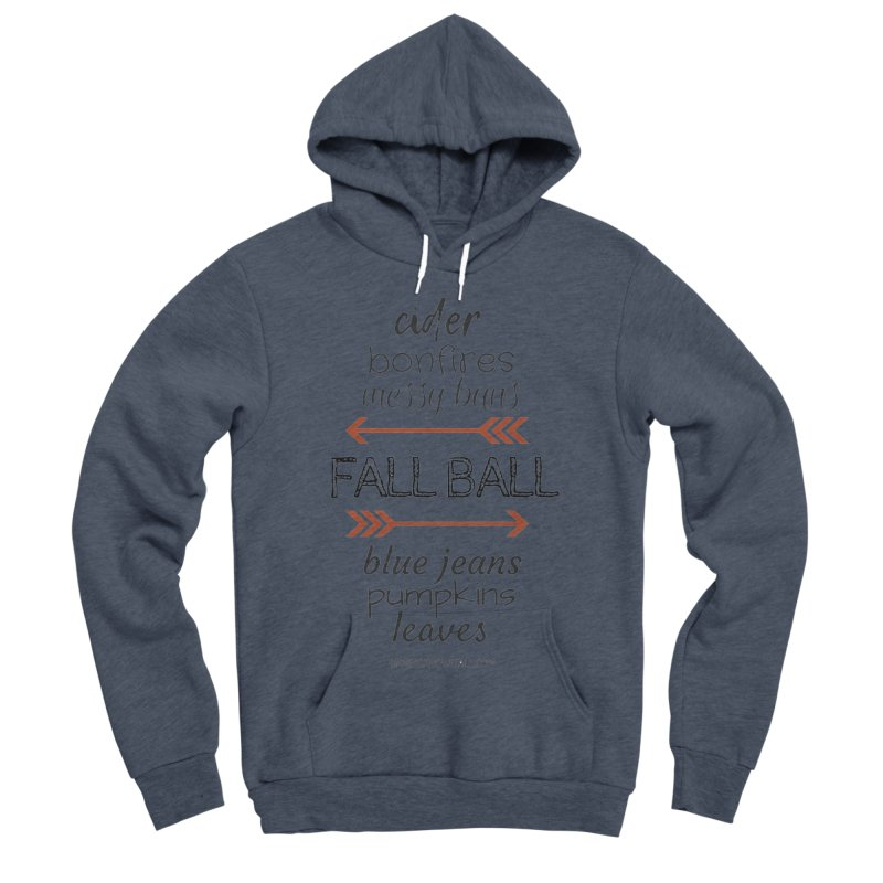 Fall Ball (Ladies) Women's Sponge Fleece Pullover Hoody by 9 Inning Know It All Apparel and Merchandise