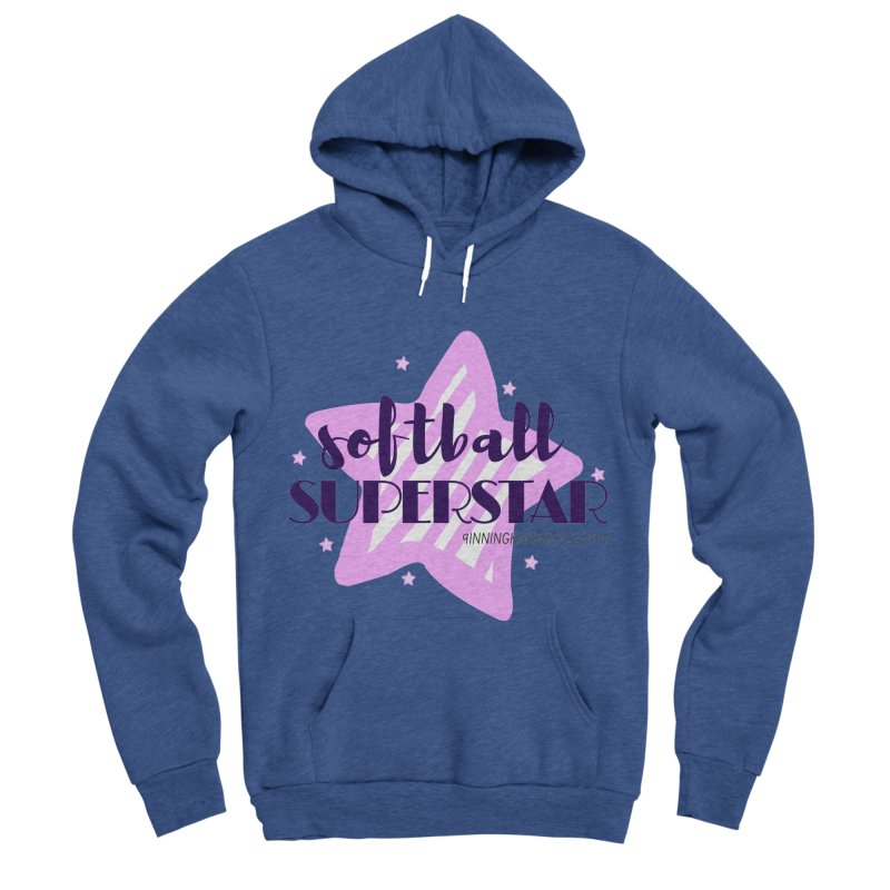 Softball Superstar Women's Sponge Fleece Pullover Hoody by 9 Inning Know It All Apparel and Merchandise
