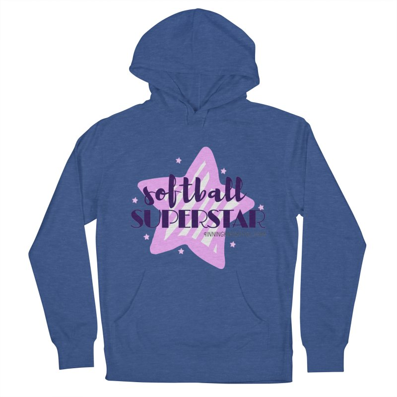 Softball Superstar Women's French Terry Pullover Hoody by 9 Inning Know It All Apparel and Merchandise