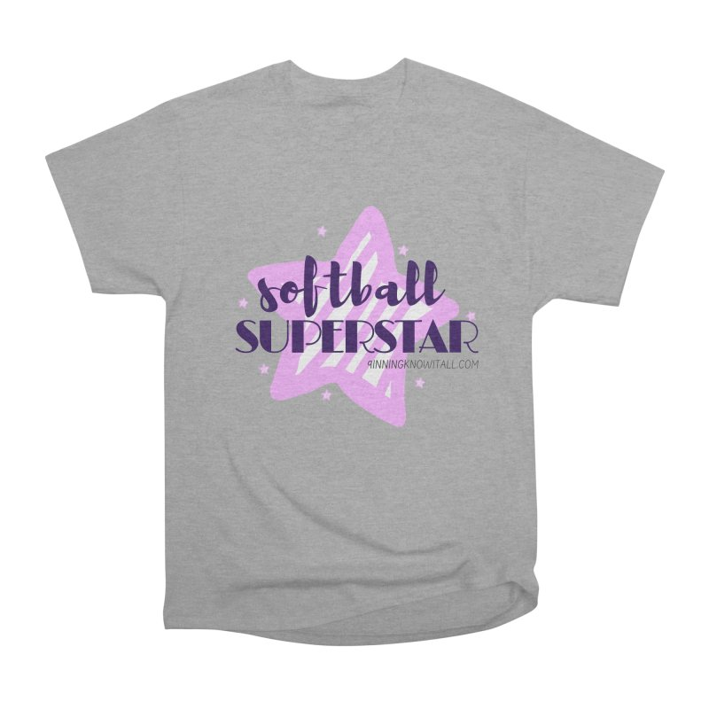 Softball Superstar Women's Heavyweight Unisex T-Shirt by 9 Inning Know It All Apparel and Merchandise