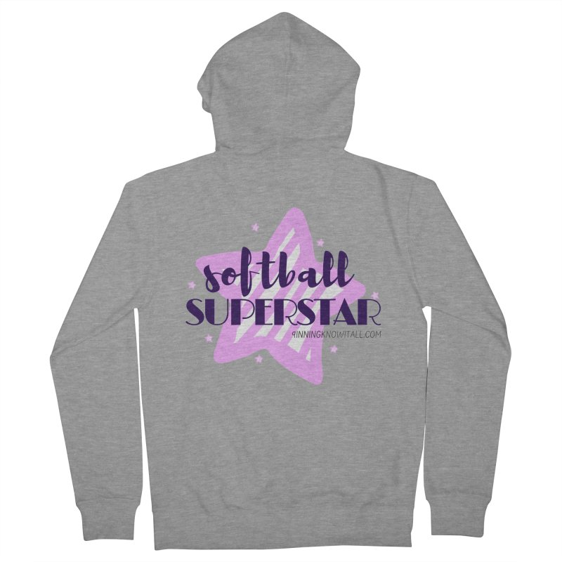 Softball Superstar Women's French Terry Zip-Up Hoody by 9 Inning Know It All Apparel and Merchandise