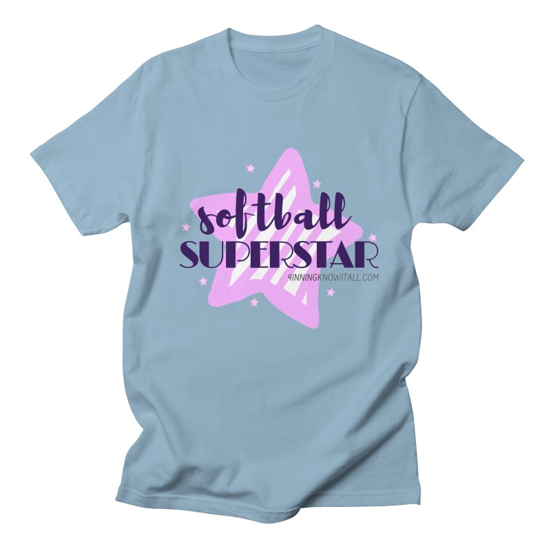 Softball Superstar Women's Regular Unisex T-Shirt by 9 Inning Know It All Apparel and Merchandise