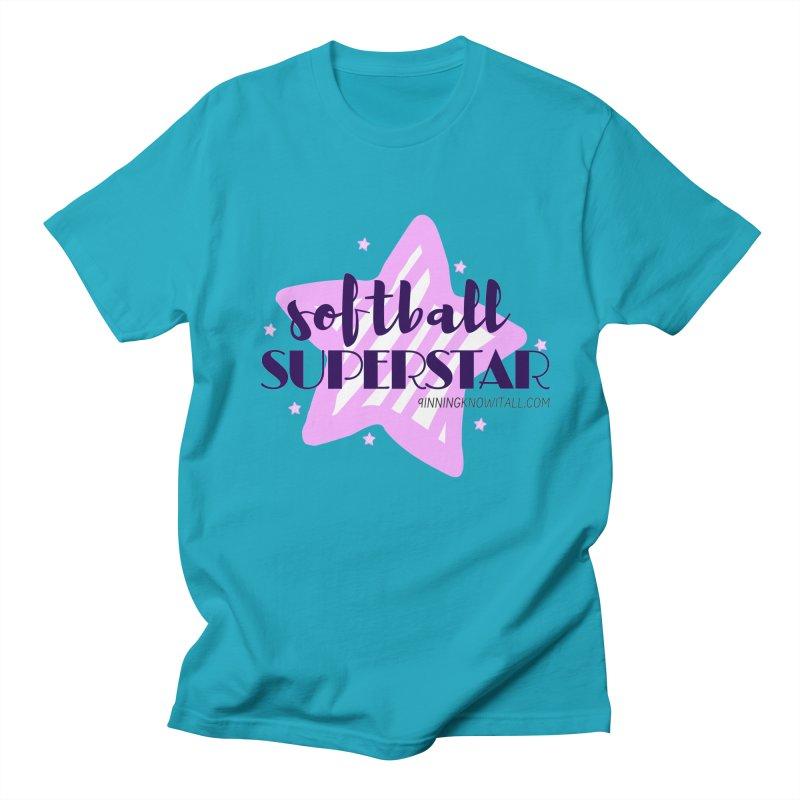 Softball Superstar Women's Regular Unisex T-Shirt by 9 Inning Know It All Apparel and Merchandise
