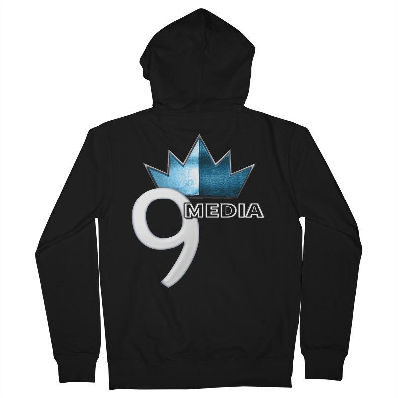 9 Media (Official) Men's French Terry Zip-Up Hoody by 9Media's Artist Shop