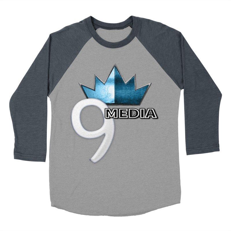 9 Media (Official) Men's Baseball Triblend Longsleeve T-Shirt by 9 Media