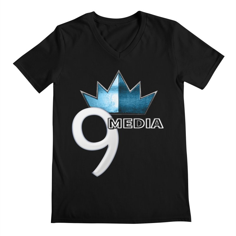 9 Media (Official) Men's Regular V-Neck by 9Media's Artist Shop