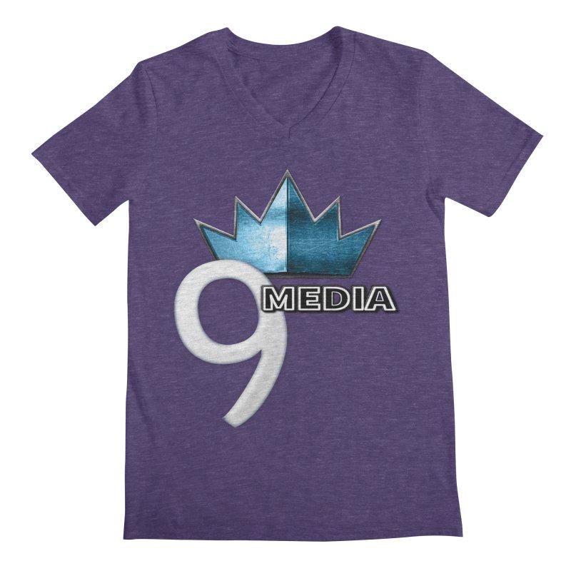 9 Media (Official) Men's Regular V-Neck by 9 Media