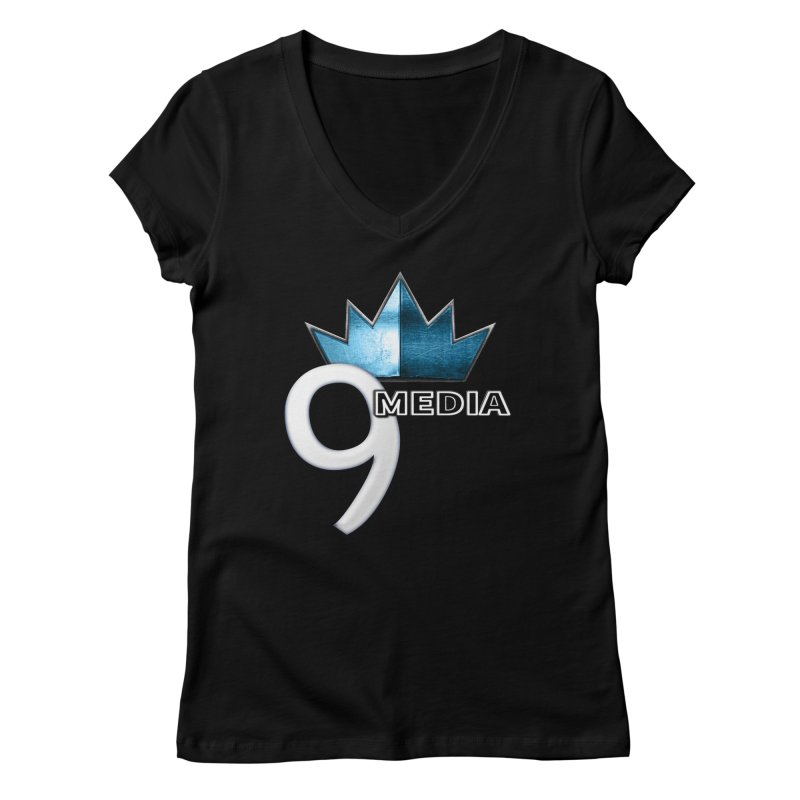 9 Media (Official) Women's V-Neck by 9 Media