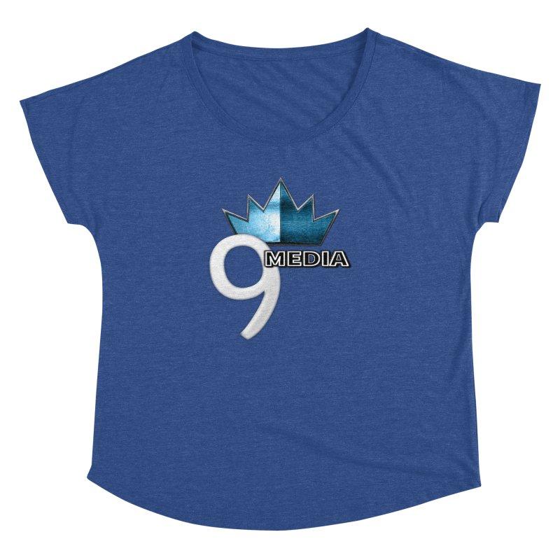 9 Media (Official) Women's Dolman Scoop Neck by 9 Media