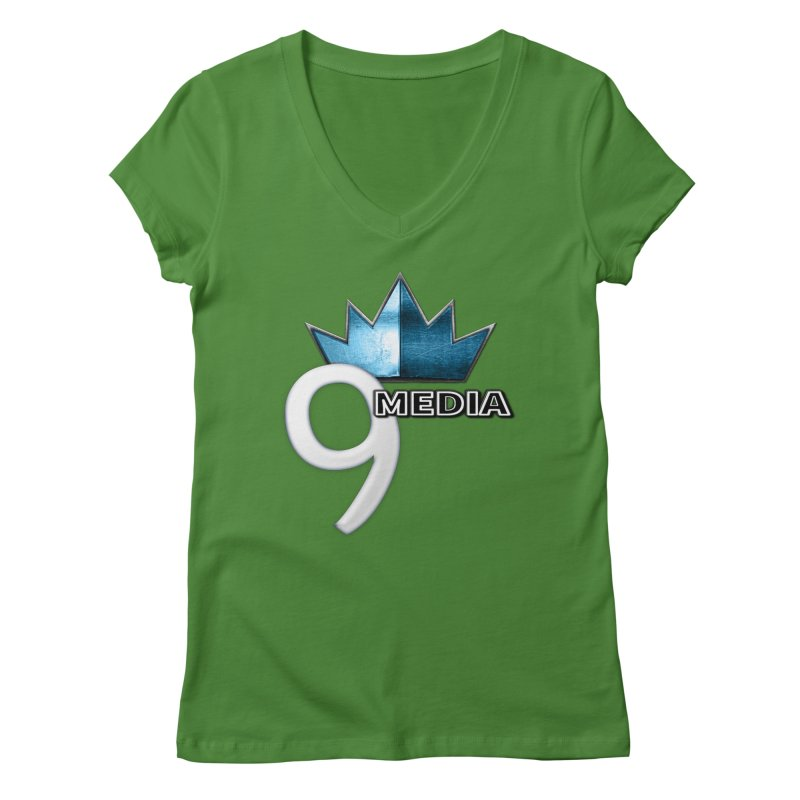 9 Media (Official) Women's V-Neck by 9 Media