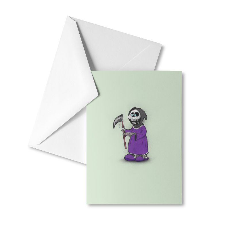 Gram Reaper Accessories Greeting Card by 9th Mountain Threads