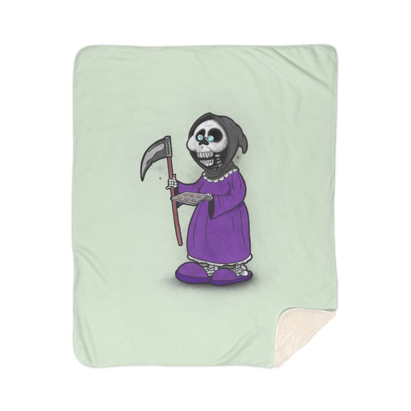 Gram Reaper Home Sherpa Blanket Blanket by 9th Mountain Threads