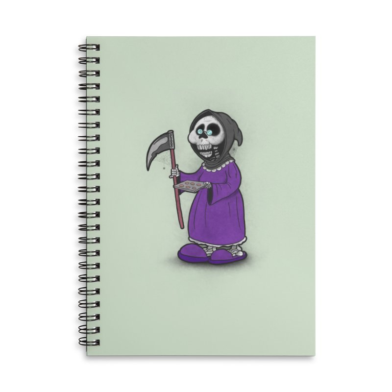 Gram Reaper Accessories Lined Spiral Notebook by 9th Mountain Threads