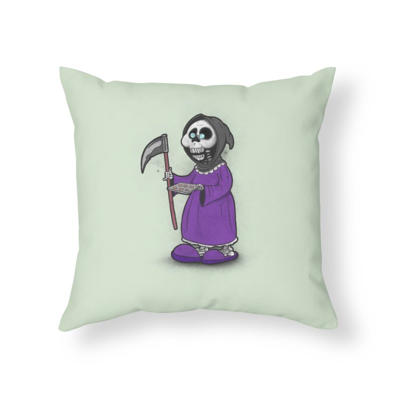 Gram Reaper Home Throw Pillow by 9th Mountain Threads