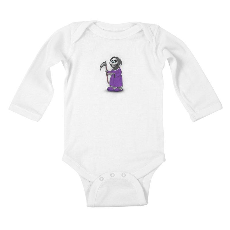 Gram Reaper Kids Baby Longsleeve Bodysuit by 9th Mountain Threads