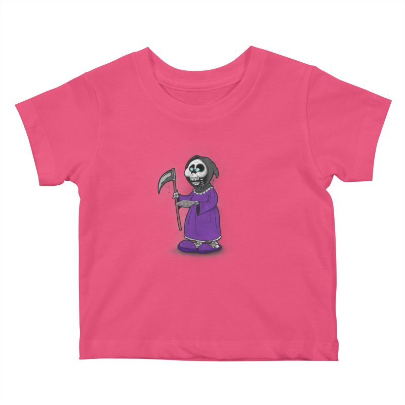Gram Reaper Kids Baby T-Shirt by 9th Mountain Threads