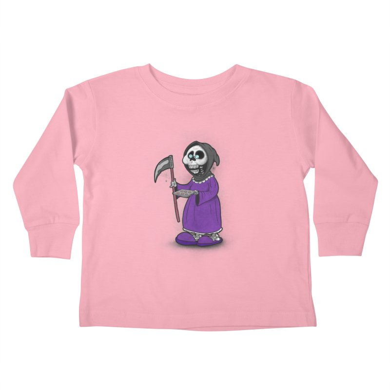 Gram Reaper Kids Toddler Longsleeve T-Shirt by 9th Mountain Threads