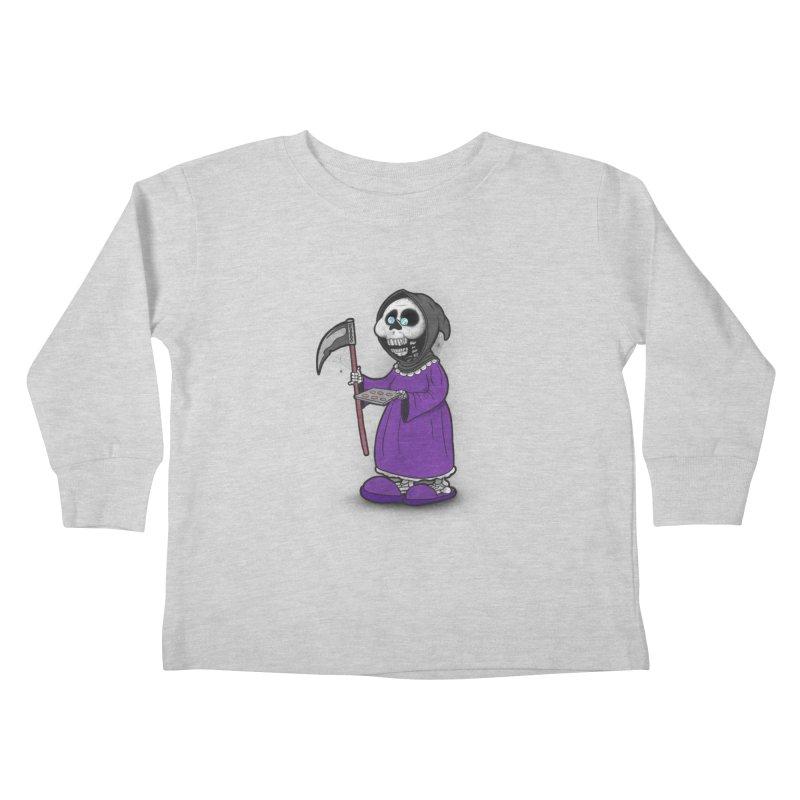 Gram Reaper Kids Toddler Longsleeve T-Shirt by 9th Mountain Threads