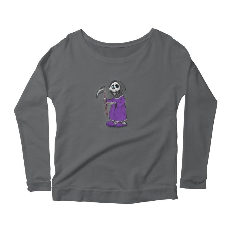 Gram Reaper Women's Scoop Neck Longsleeve T-Shirt by 9th Mountain Threads