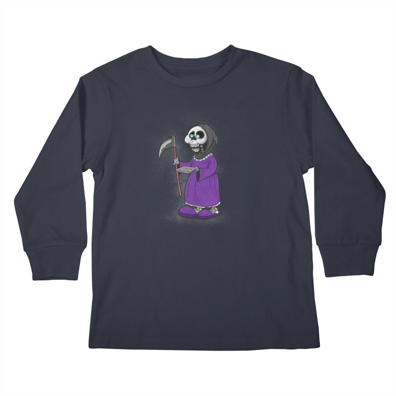Gram Reaper Kids Longsleeve T-Shirt by 9th Mountain Threads