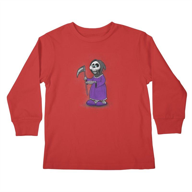 Gram Reaper Kids Longsleeve T-Shirt by 9th Mountain Threads