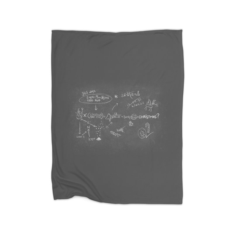 Christmas Equation Home Fleece Blanket Blanket by 9th Mountain Threads