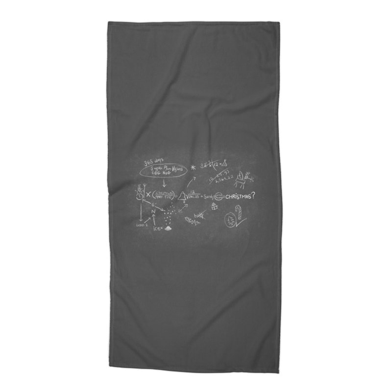 Christmas Equation Accessories Beach Towel by 9th Mountain Threads