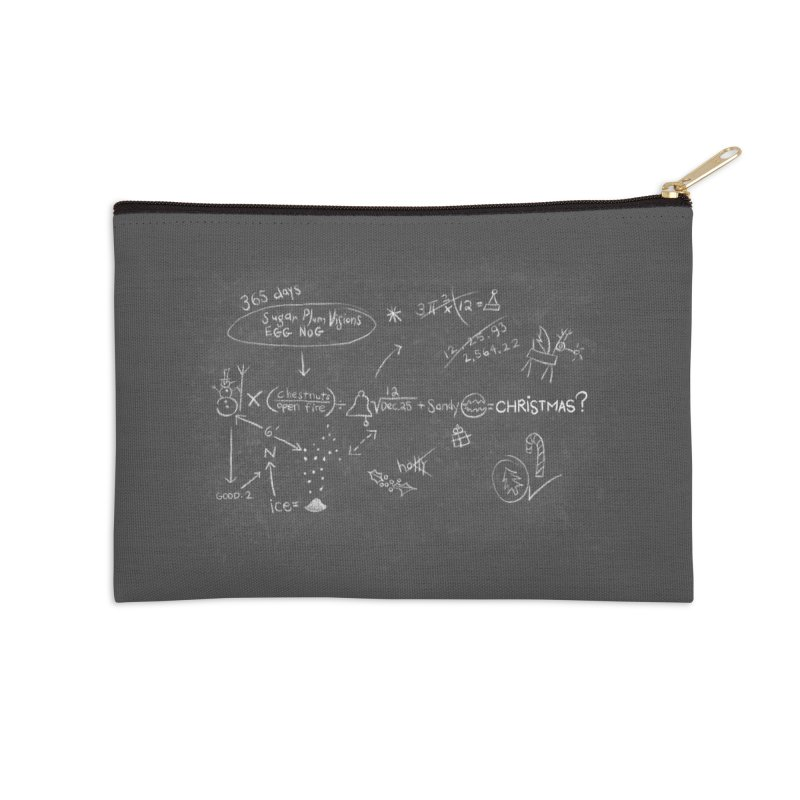 Christmas Equation Accessories Zip Pouch by 9th Mountain Threads